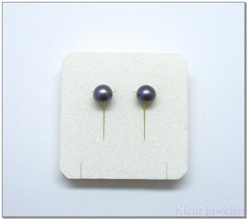 Zilveren oorstekers met zoetwaterparels