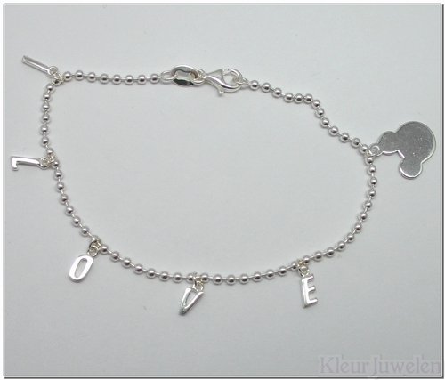 Armband met I LOVE Mickey