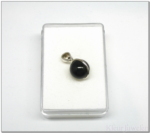 Ronde cabochon onyx hanger