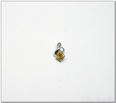 Kleine hanger met ronde citrien