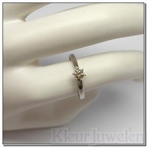 Witgouden ring met diamant 0,25 karaat (14k)