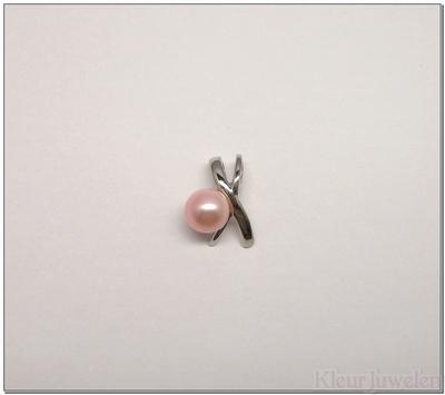 Hanger met roze zoetwaterparel