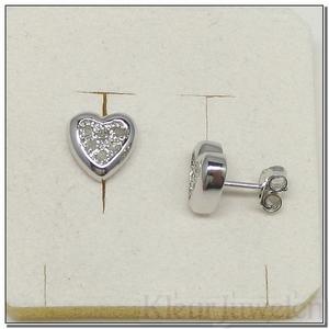 Hartvormige oorstekers met diamant