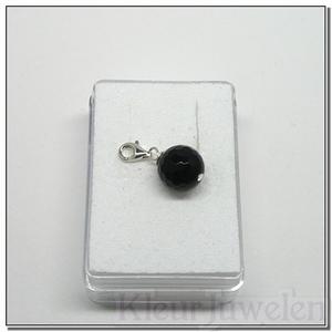 Karabijnhanger met zwarte onyx