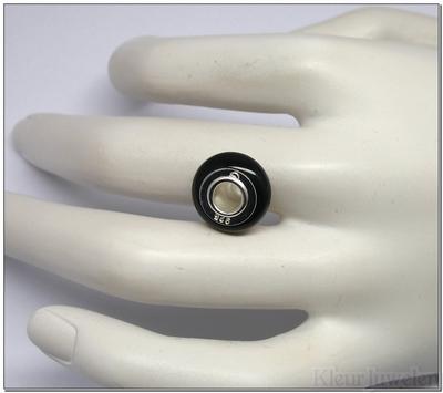 Edelsteenkraal zwarte onyx 14mm