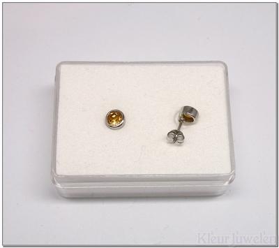 Ronde citrien oorstekers in een dichte zetting (5mm)