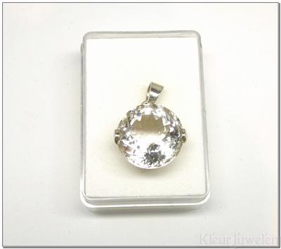 Hanger met ronde bergkristal (20mm)