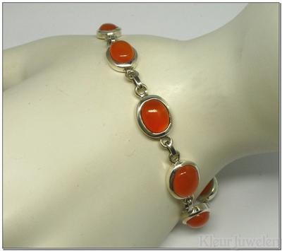 Armband met ovale carneool