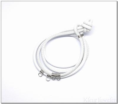 Armband van nappaleer (wit)