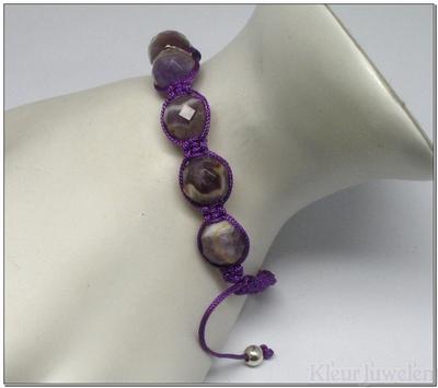 Shamballa armband amethist