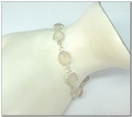Zilveren armband met verschillende rozenkwarts