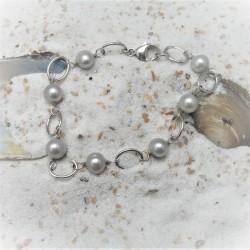 Armband met grijze...