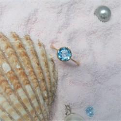 Geelgouden ring met ronde...