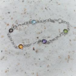 Zilveren multicolour armband