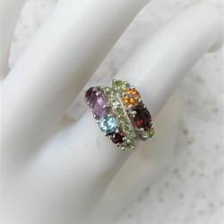 Multicolour ring met lijn...
