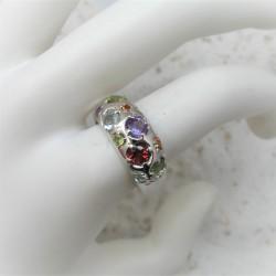 Zilveren ring met...