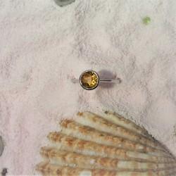 Witgouden ring met citrien