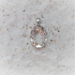 Ovale bergkristal hanger 19...