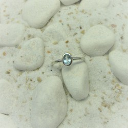 Zilveren gladde ring met...