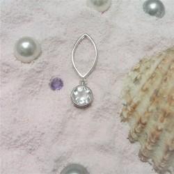 Hanger met ronde bergkristal