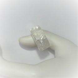 Edelsteenring van bergkristal
