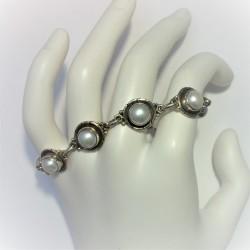 Armband met zoetwaterparels