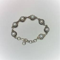 Armband met rozenkwarts en...