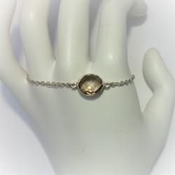 Zilveren armband met ovale...