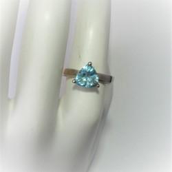 Ring met driehoekige blauwe...