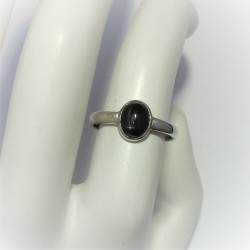 Ring met black star diopsied