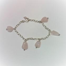 Armband met rozenkwarts...