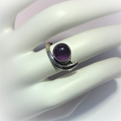 Ring met ronde cabochon...