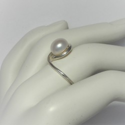 Zilveren ring met markies...