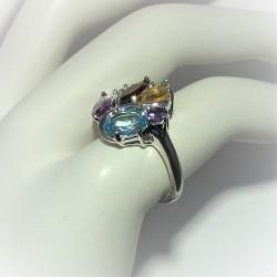 Multicolour ring met ronde...