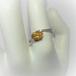 Zilveren ring met ovale...