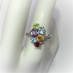 Multicolour ring met ronde...