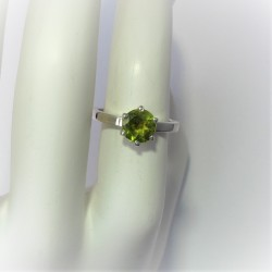 Zilveren ring met ronde...