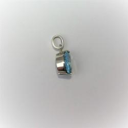 Zilveren hanger met ronde...