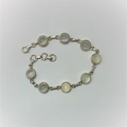 Armband met ronde maansteen