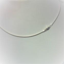 Zilveren slangenketting 45 cm