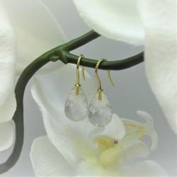 Geelgouden oorbellen met...